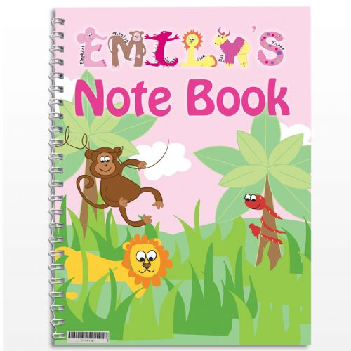 Personalised Girls Animal Alphabet Notebook